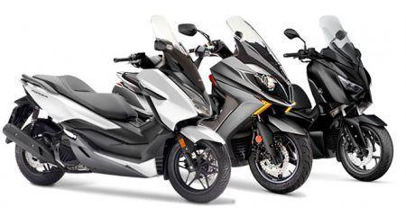 comparativa scooters 125  450x231 - Concesionario Motos en Madrid | Brixton, Kymco, Piaggio, Honda, Suzuki, Kawasaki, Sym